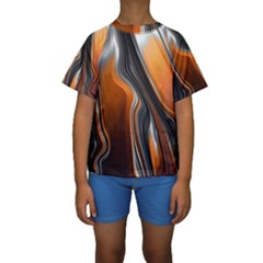 Fractal Structure Mathematics Kids  Short Sleeve Swimwear