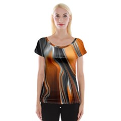 Fractal Structure Mathematics Women s Cap Sleeve Top