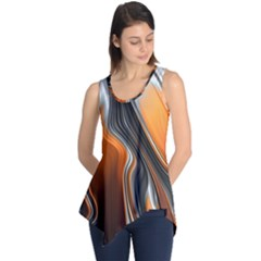 Fractal Structure Mathematics Sleeveless Tunic