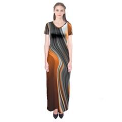 Fractal Structure Mathematics Short Sleeve Maxi Dress