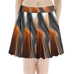 Fractal Structure Mathematics Pleated Mini Skirt