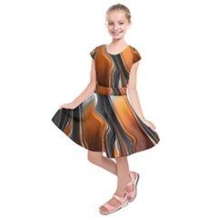 Fractal Structure Mathematics Kids  Short Sleeve Dress