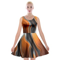 Fractal Structure Mathematics Velvet Skater Dress