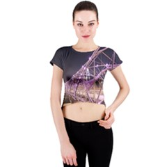 Helixbridge Bridge Lights Night Crew Neck Crop Top