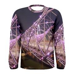 Helixbridge Bridge Lights Night Men s Long Sleeve Tee
