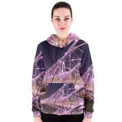 Helixbridge Bridge Lights Night Women s Zipper Hoodie