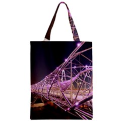Helixbridge Bridge Lights Night Zipper Classic Tote Bag