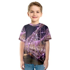 Helixbridge Bridge Lights Night Kids  Sport Mesh Tee
