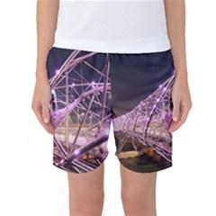 Helixbridge Bridge Lights Night Women s Basketball Shorts