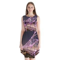 Helixbridge Bridge Lights Night Sleeveless Chiffon Dress