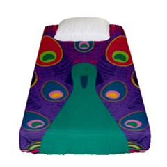 Peacock Bird Animal Feathers Fitted Sheet (single Size)
