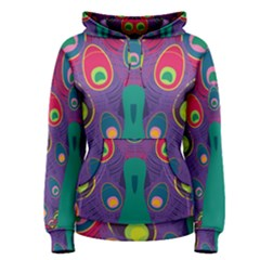 Peacock Bird Animal Feathers Women s Pullover Hoodie