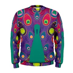 Peacock Bird Animal Feathers Men s Sweatshirt