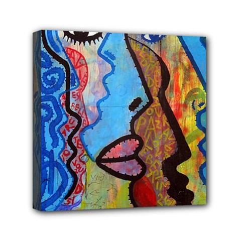 Graffiti Wall Color Artistic Mini Canvas 6  X 6