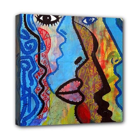 Graffiti Wall Color Artistic Mini Canvas 8  X 8
