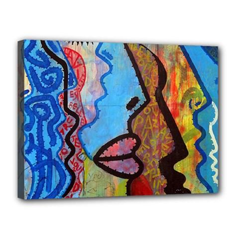Graffiti Wall Color Artistic Canvas 16  X 12