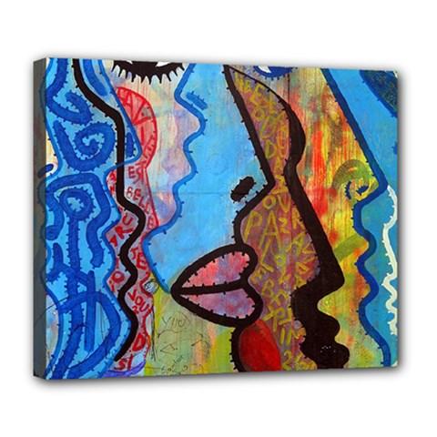 Graffiti Wall Color Artistic Deluxe Canvas 24  X 20