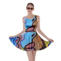 Graffiti Wall Color Artistic Skater Dress