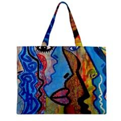 Graffiti Wall Color Artistic Mini Tote Bag
