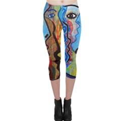 Graffiti Wall Color Artistic Capri Leggings