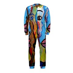 Graffiti Wall Color Artistic Onepiece Jumpsuit (kids)