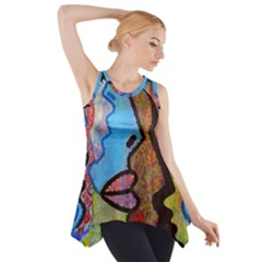 Graffiti Wall Color Artistic Side Drop Tank Tunic