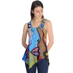 Graffiti Wall Color Artistic Sleeveless Tunic