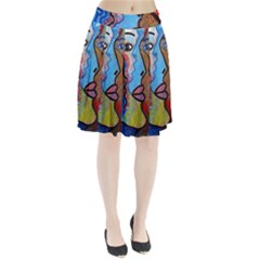 Graffiti Wall Color Artistic Pleated Skirt