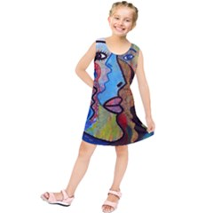 Graffiti Wall Color Artistic Kids  Tunic Dress