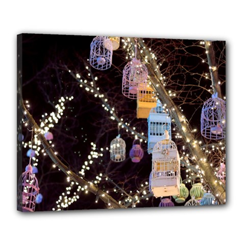 Qingdao Provence Lights Outdoors Canvas 20  X 16