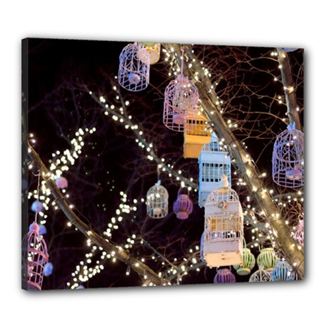 Qingdao Provence Lights Outdoors Canvas 24  X 20