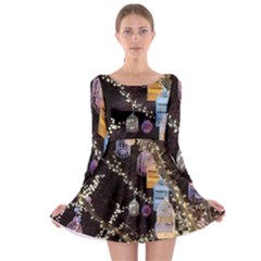 Qingdao Provence Lights Outdoors Long Sleeve Skater Dress