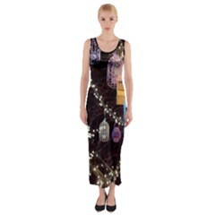 Qingdao Provence Lights Outdoors Fitted Maxi Dress