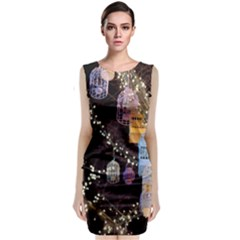Qingdao Provence Lights Outdoors Sleeveless Velvet Midi Dress