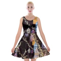 Qingdao Provence Lights Outdoors Velvet Skater Dress