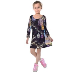 Qingdao Provence Lights Outdoors Kids  Long Sleeve Velvet Dress