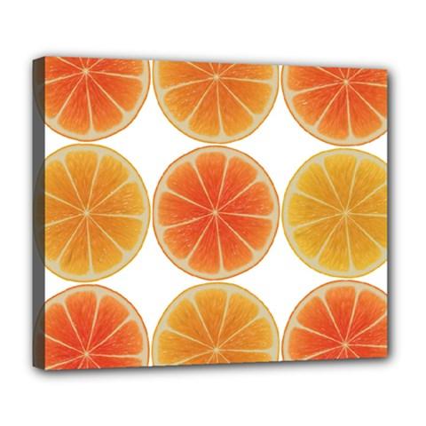 Orange Discs Orange Slices Fruit Deluxe Canvas 24  X 20