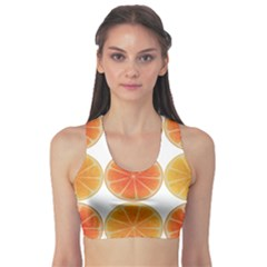 Orange Discs Orange Slices Fruit Sports Bra