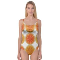 Orange Discs Orange Slices Fruit Camisole Leotard