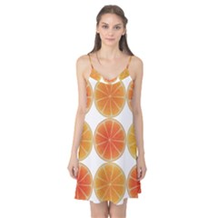 Orange Discs Orange Slices Fruit Camis Nightgown