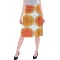 Orange Discs Orange Slices Fruit Midi Beach Skirt
