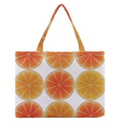 Orange Discs Orange Slices Fruit Medium Zipper Tote Bag