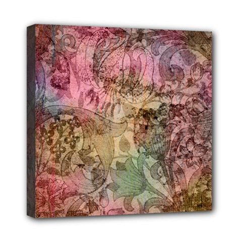 Texture Background Spring Colorful Mini Canvas 8  X 8