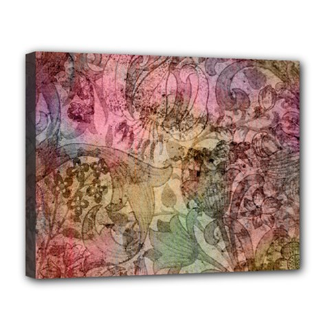 Texture Background Spring Colorful Canvas 14  X 11