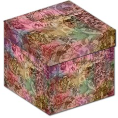 Texture Background Spring Colorful Storage Stool 12