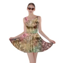 Texture Background Spring Colorful Skater Dress