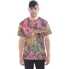 Texture Background Spring Colorful Men s Sport Mesh Tee