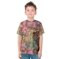 Texture Background Spring Colorful Kids  Cotton Tee