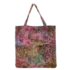 Texture Background Spring Colorful Grocery Tote Bag