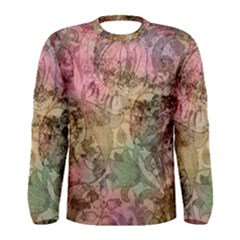 Texture Background Spring Colorful Men s Long Sleeve Tee